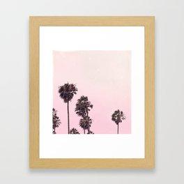 Palm Tree Peachy Framed Art Print