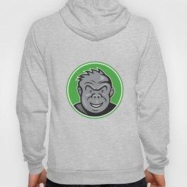 Angry Gorilla Head Circle Cartoon Hoody