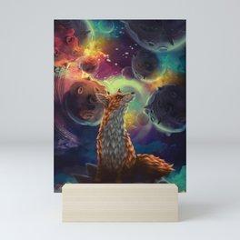 The Fox on the Planets Mini Art Print
