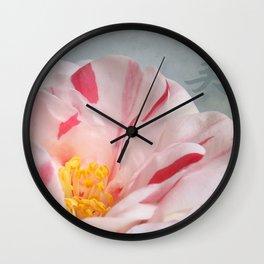 Peace Camellia Wall Clock