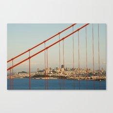 Golden San Gate Francisco Bridge Canvas Print