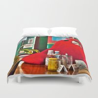 lobster Duvet Covers featuring Lobster by Suzi Corker