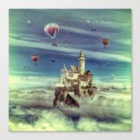laputa Canvas Prints featuring Laputa - Castle in the Sky by Paula Belle Flores
