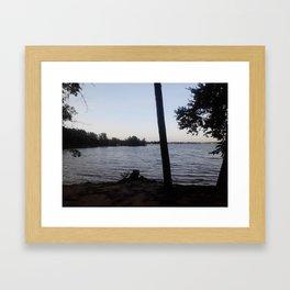 Shaded lake coast Framed Art Print
