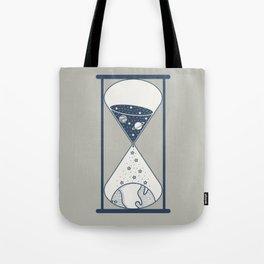 Space Hourglass Tote Bag