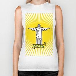 Christ the Redeemer statue in Rio de Janeiro, Brazil Biker Tank
