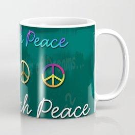 Teach Peace Blackboard Symbols Coffee Mug