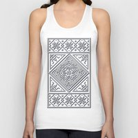 scandinavian Tank Tops featuring Scandinavian Patterns I by Fischer Fine Arts