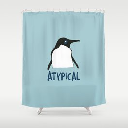Atypical penguin Shower Curtain