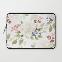 Watercolor ranunculus - Watercolor floral pattern Laptop Sleeve