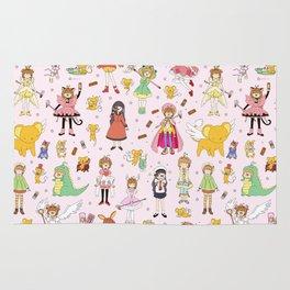 Cutest Cardcaptor! Cardcaptor Sakura Doodle Rug