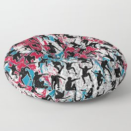 Skater Retro Urban Graffiti Floor Pillow
