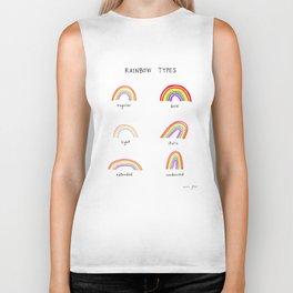 rainbow types Biker Tank