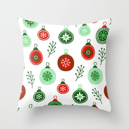 Christmas Decorations Pattern Throw Pillow