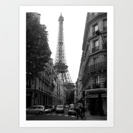 Around the Corner - Paris Art Print