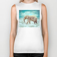 Walk With the Dreamers (Elephant in the Clouds) Biker Tank