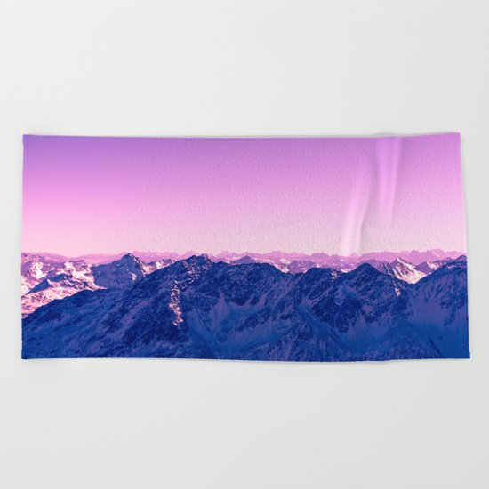 Pink Mountains #society6 #photography Beach Towel