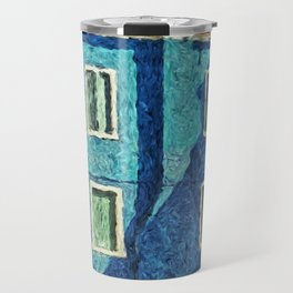Burano blue house Travel Mug