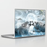 wolves Laptop & iPad Skins featuring Wolves by haroulita