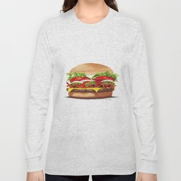 Bacon Cheeseburger by dana alfonso Long Sleeve T-shirt