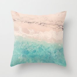 Aerial sea photography, exotic beach, fine art, wanderlust, coral reef, tropical landscape, summer Throw Pillow