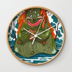Cookie Swamp Monster Wall Clock