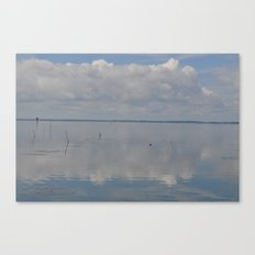 Picture Perfect Blue Sky Water Bay Scene Landscape  Canvas Print
