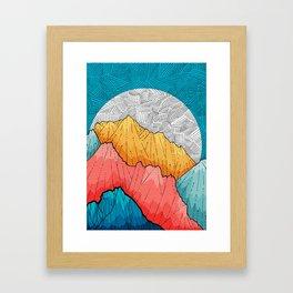 The crosshatch peaks Framed Art Print
