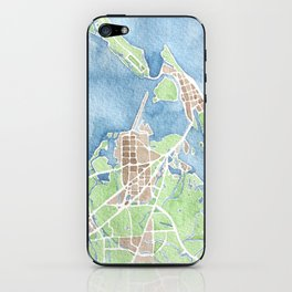 Coastal Map of Galveston TX iPhone Skin