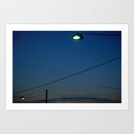 Night Time in Istanbul Art Print