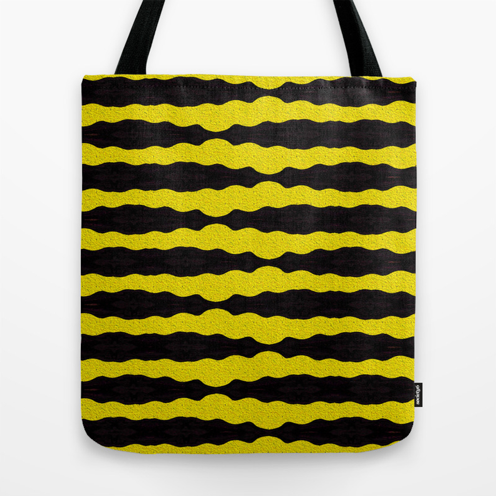 Retro Black And Gold Tote Purse by Carlieamberpartridge (TBG9861420) photo