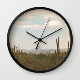 Down Desert Roads, II Wall Clock