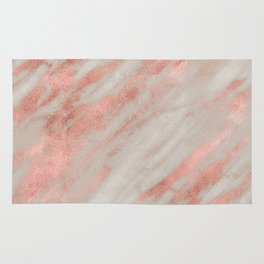 rosegold marble Rug