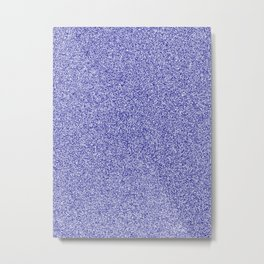 Melange - White and Dark Blue Metal Print