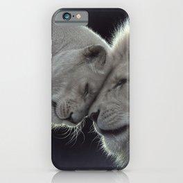 White Lion Love iPhone Case