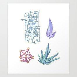 planetary materials Art Print