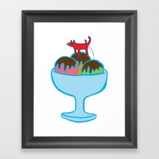 Ice-cream dog Framed Art Print