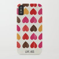 ass iPhone & iPod Cases featuring LOVE ASS by Lulla