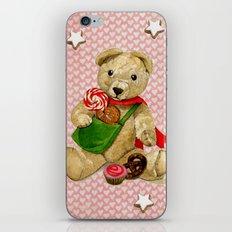 Pink_Hearts_Xmas_Bear_1 iPhone & iPod Skin