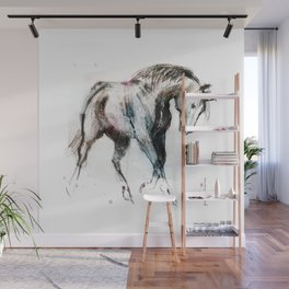 Young horse trotting Wall Mural