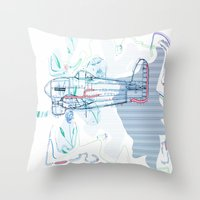 underwater Throw Pillows featuring Underwater by March Hunger