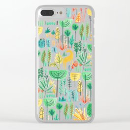 Jungle life with golden unicorn Clear iPhone Case