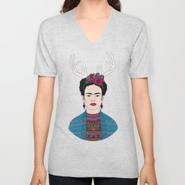 DEER FRIDA Unisex V-Neck