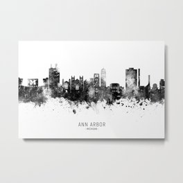 Ann Arbor Michigan Skyline Metal Print