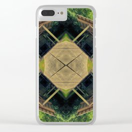 Happy Awesome Pixel Mandala #2 Clear iPhone Case