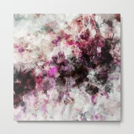 Modern Abstract Painting in Purple and Pink Tones Metal Print