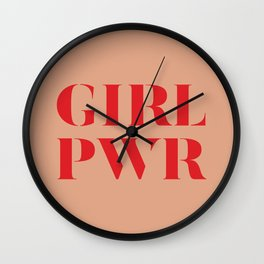 Girl Power quote Wall Clock