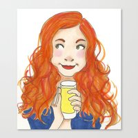 amy pond Canvas Prints featuring Amy Pond Lemonade by Lena Lang