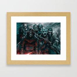 Space Knights dark edition Framed Art Print