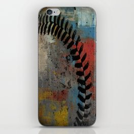 Painted Baseball iPhone Skin